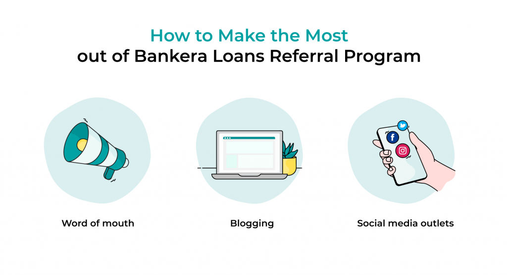 How to Make the Most out of Bankera Loans Referral Program: word of mouth, blogging, social media outlets